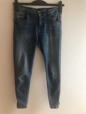 Noisy May Jeans vita bassa blu fiordaliso