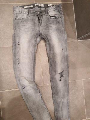 Tally Weijl Jeansy z prostymi nogawkami jasnoszary