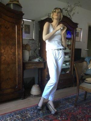Alba Moda Stretch Trousers white cotton