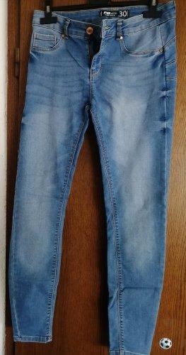 FB Sister Jeansowe karoty stalowy niebieski