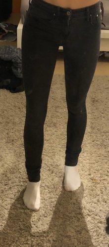 H&M Pantalón de tubo gris antracita
