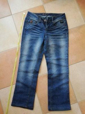 4Wards Spodnie typu boyfriend niebieski