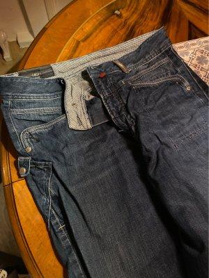 High Hoge taille broek donkerblauw