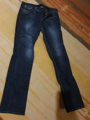 Only Jeans carotte bleu foncé-bleu fluo