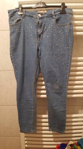 Janina Pantalón de pinza alto azul aciano