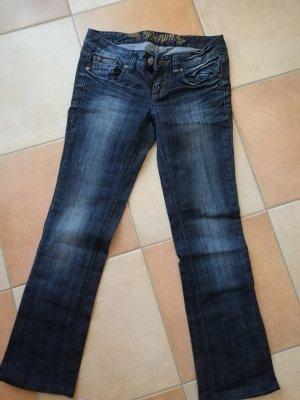 Tom Tailor Denim Low Rise Jeans dark blue