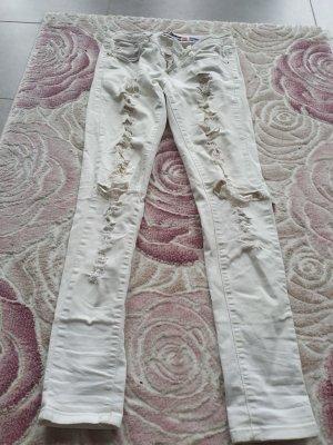 Blue Rags Skinny Jeans white