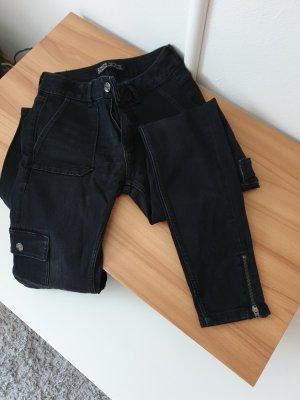 Zara Drainpipe Trousers black