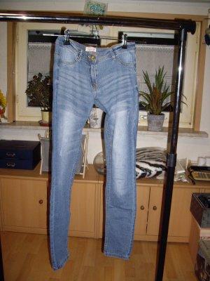 pocopiano Pantalon fuselé bleuet tissu mixte