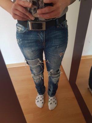 New Yorker Pantalon boyfriend bleu