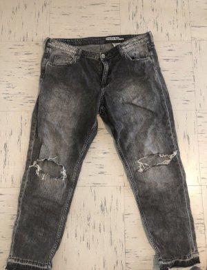 H&M Spodnie typu boyfriend Wielokolorowy