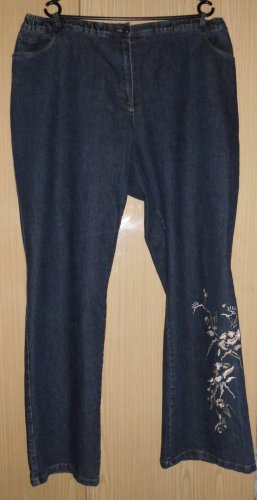 Low Rise jeans staalblauw