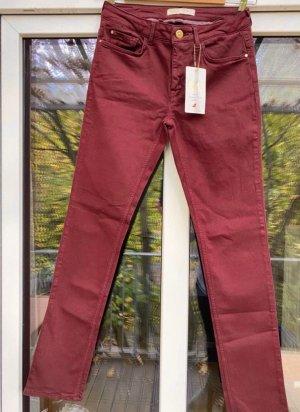 Zara Basic Stretch Trousers carmine