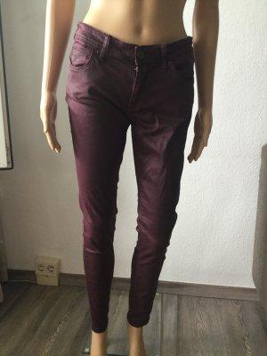 Burberry Brit Low Rise jeans karmijn-bordeaux Katoen