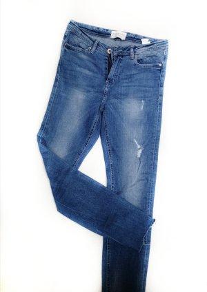 Reserved Pantalon cigarette bleu