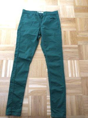 Jeanshose, dunkelgrün, Gr. 30, Länge 34, Topshop