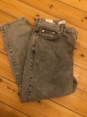Mango Low-Rise Trousers grey