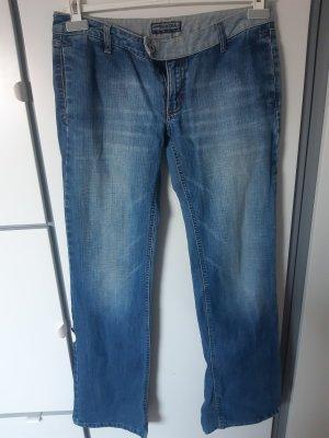 Free Soul Boyfriend Trousers steel blue-azure cotton