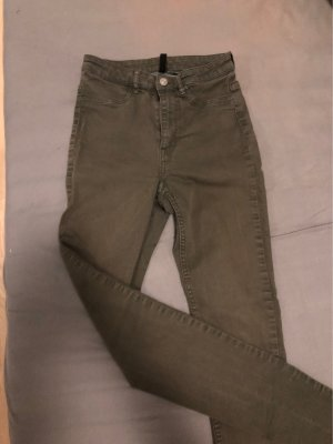 Hoge taille jeans khaki