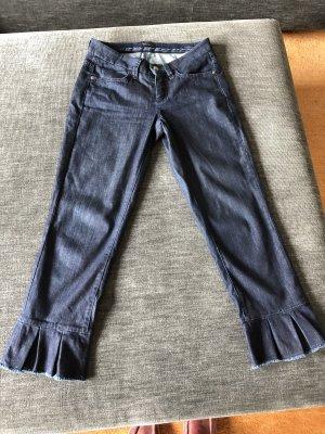 Cambio Jeans Spodnie 3/4 ciemnoniebieski