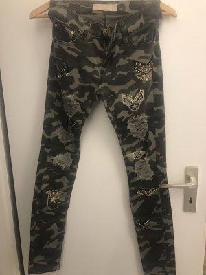 original Pantalón de color caqui caqui