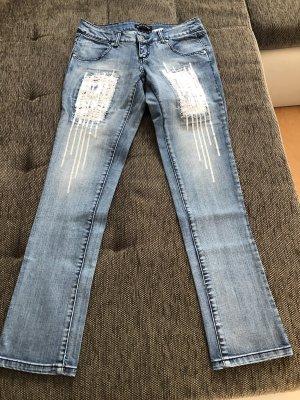 Melrose Jeans carotte bleu azur