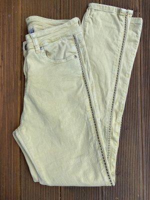 Jeanshose gelb