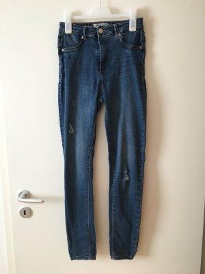 Tally Weijl High Waist Trousers blue-dark blue