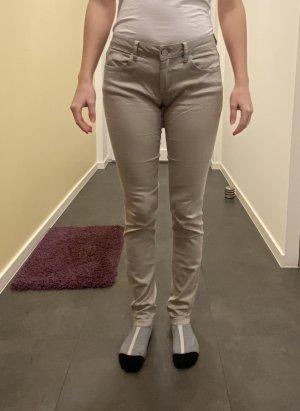 Buena Vista Straight Leg Jeans light grey cotton