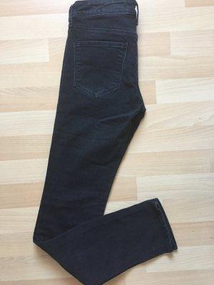 H&M Vaquero slim gris antracita-negro tejido mezclado