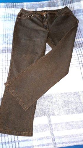 Ambria Jeansy z prostymi nogawkami zielono-szary-antracyt