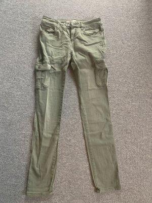Jeanshose in grün/Khaki