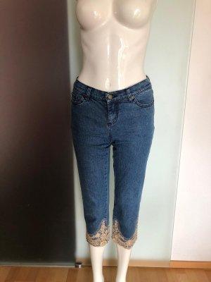 Jeanshose Jeans Hose mit Spitze 7/8 Gr 34 XS von John Baner