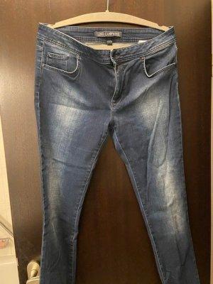 Lisa Campione Pantalone cinque tasche blu scuro Cotone