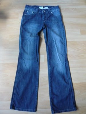 Jeanshose, Marke: Madoc, Gr. 17, Boot Cut, mit Einsatz, getragen