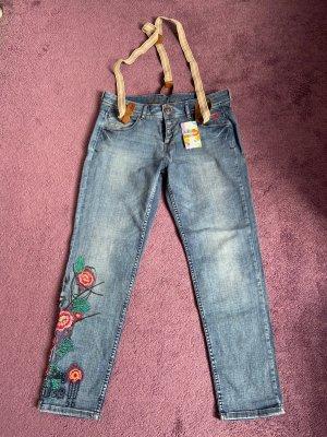 Jeanshose mit Hosenträger Desigual NEU