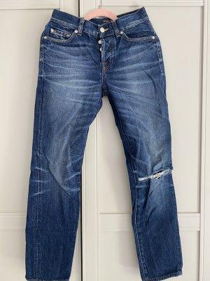 7 For All Mankind Jeans a gamba dritta blu scuro-blu