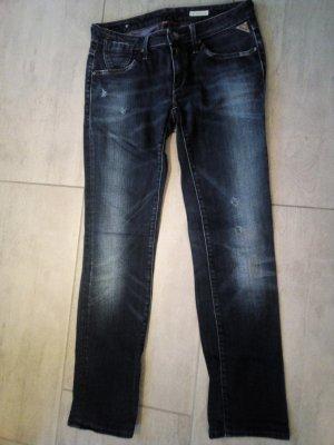Replay Pantalon taille basse bleu-bleu foncé