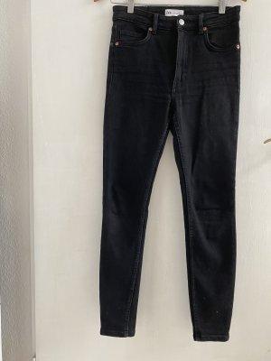 Jeanshose Schwarz Zara Größe 38