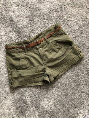 Denim Co. Shorts brown-green grey