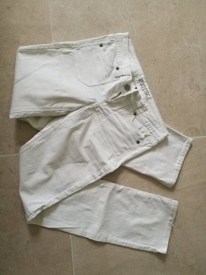 Jeanshose straight leg weiß