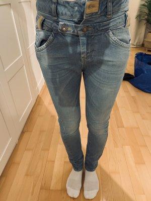Tigerhill Low Rise Jeans khaki-cornflower blue