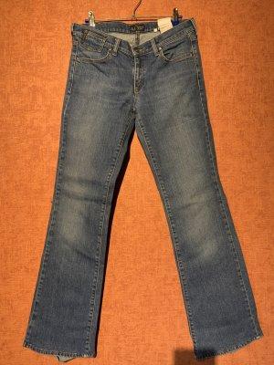 Armani Jeans Straight Leg Jeans cornflower blue cotton