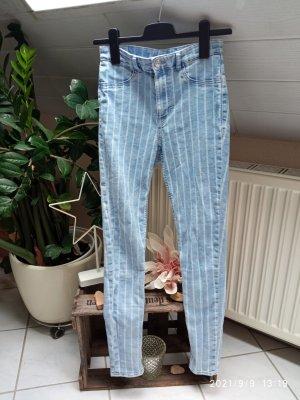 H&M Divided Drainpipe Trousers pale blue-blue