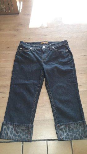 Mac Jeans a 3/4 nero Tessuto misto