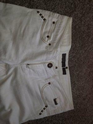 Be only Spodnie rurki w kolorze białej wełny