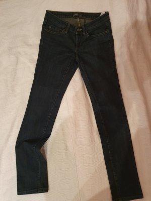 Only Pantalon cinq poches gris ardoise-bleu foncé