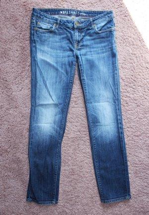 Peckott Tube Jeans blue-white
