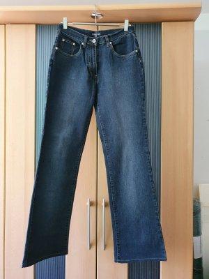 Street One Pantalon pattes d'éléphant bleu foncé coton