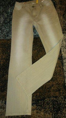 Street One Jeans stretch beige clair-rose chair tissu mixte